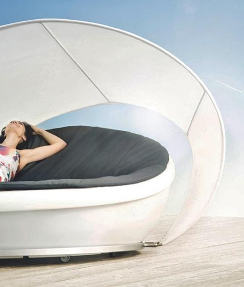modernes ruhebett solpuri design schirm