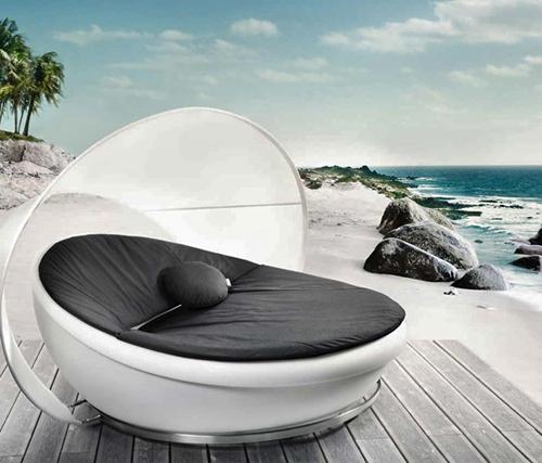 modernes ruhebett solpuri design sonnenschirm