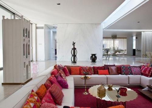 modernes wohnzimmer design - ecke zur entspannung und unterhaltung, Wohnzimmer