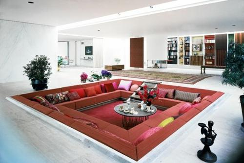 modernes wohnzimmer design ecke zur entspannung und unterhaltung. Black Bedroom Furniture Sets. Home Design Ideas