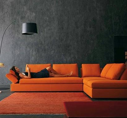 Modernes Wohnzimmer Design Helle Kontrastierende Farben