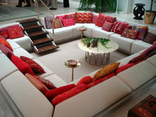 Modernes Wohnzimmer Design Quadrat Ecke Sofa