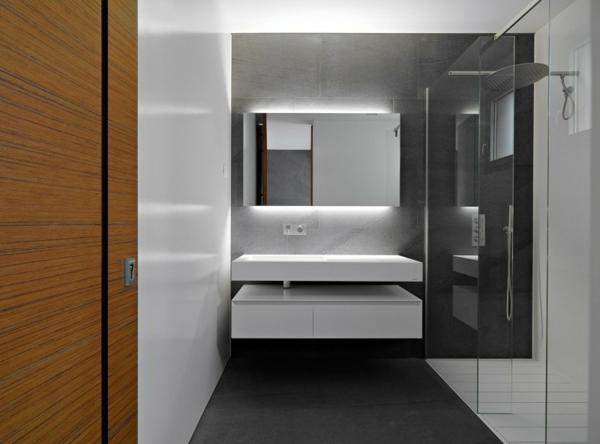 monochrom badezimmet stilvoll modern