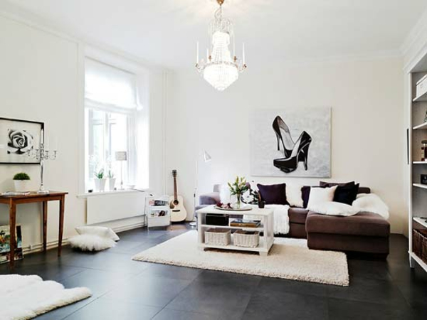 Nordische Wohnzimmer Ideen Design Weiss