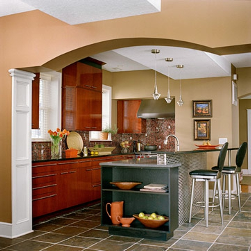kuche wohnzimmer offen klein alles 252ber wohndesign und
