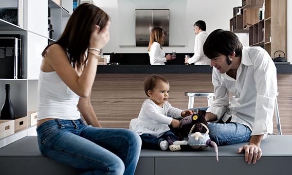 offene bereiche haus raumteiler kinderzimmer wohnbereich