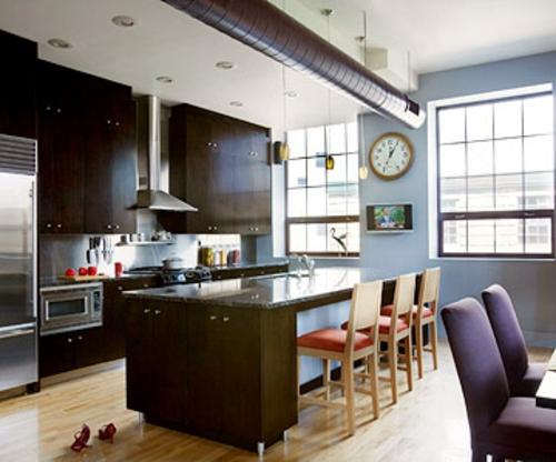 offene küchen modern stil essbereich