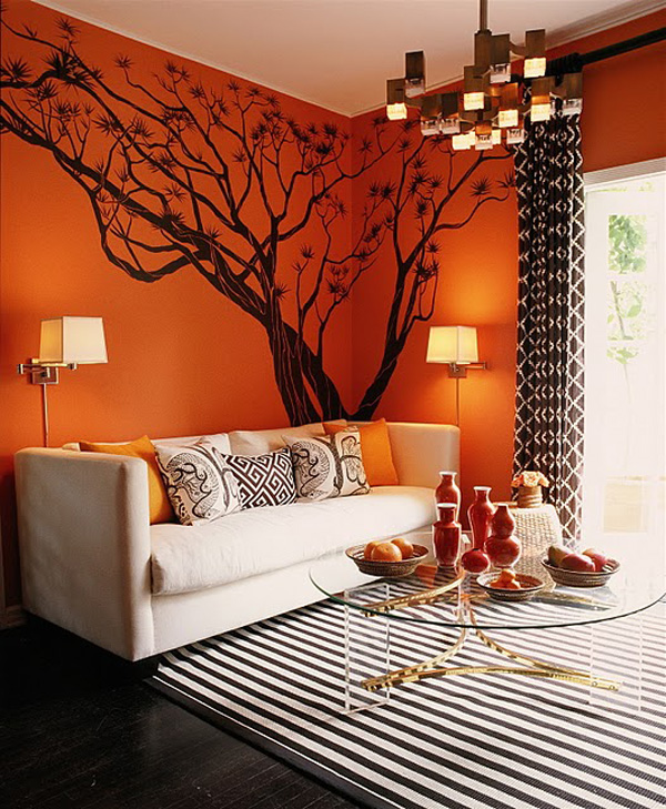 Orange Interior Design – lebendige, energiegeladene und warme ...