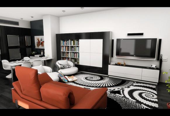 Wohnzimmer schwarz weis orange  funvit.com | schöne farben fürs wohnzimmer. wohnzimmer schwarz ...