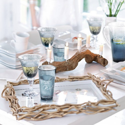originelle Ideen Ast Zweigdekorationen im Inneren Tisch