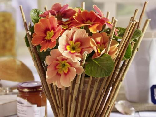 originelle Ideen Ast Zweigdekorationen im Inneren Vase Blumentopfe