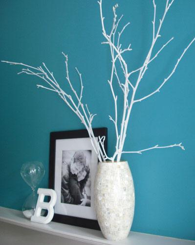 originelle Ideen Ast Zweigdekorationen im Inneren Vase Design
