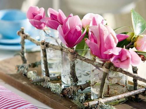 originelle Ideen Ast Zweigdekorationen im Inneren - Vasen