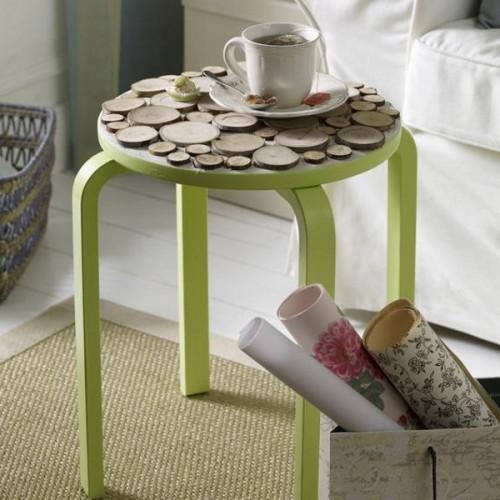 10 originelle ideen zur dekoration mit holzscheiben. Black Bedroom Furniture Sets. Home Design Ideas