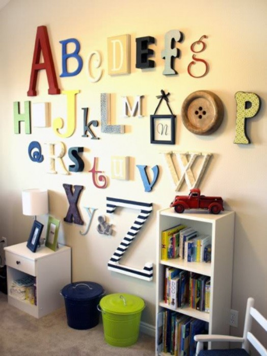 Kinderzimmer wanddekoration  16 originelle Ideen für auffallende Kinderzimmer-Wanddekorationen