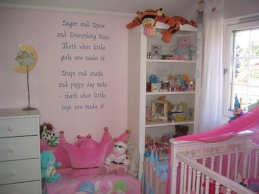 Kinderzimmer wand ideen für mädchen  16 originelle Ideen für auffallende Kinderzimmer-Wanddekorationen