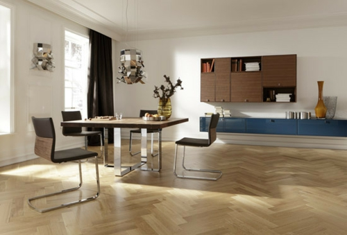 originelle küchenmöbelstücke idee modern holzbodenbelag