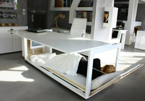 originelles schrebitisch-bett studio nl weiß arbeitsbüro