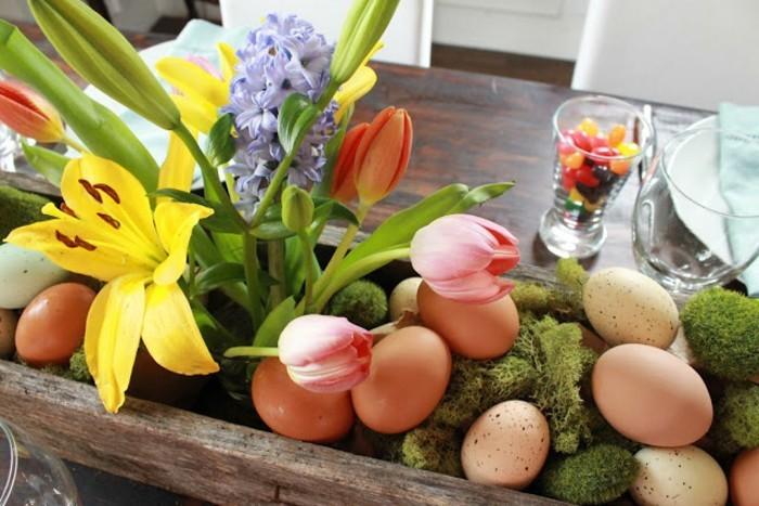 osterdeko 2017 basteln für ostern frühlingsblumen in eierkarton eier färben