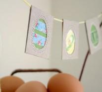 Osterkranz und Girlanden basteln – 10 einfache Deko Ideen