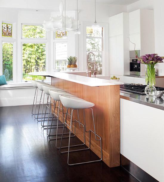 plastisch stehstuhl glanzvoll oberfläche kücheninsel