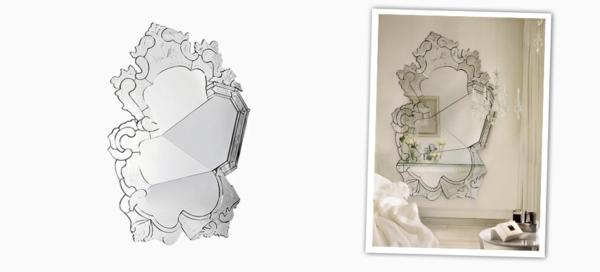 prachtvoller spiegel moderne kunst inspiriert von den alten zeiten. Black Bedroom Furniture Sets. Home Design Ideas