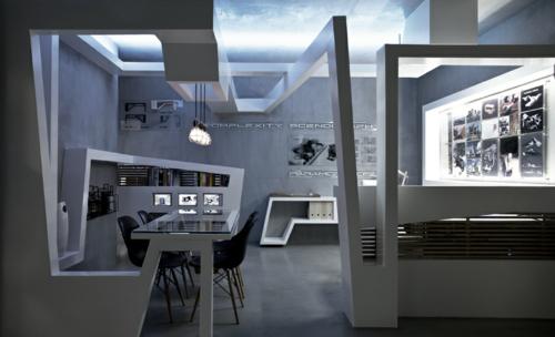 projekt arbeitsbüro weiß design studio nl Originelles Schreibtisch-Bett