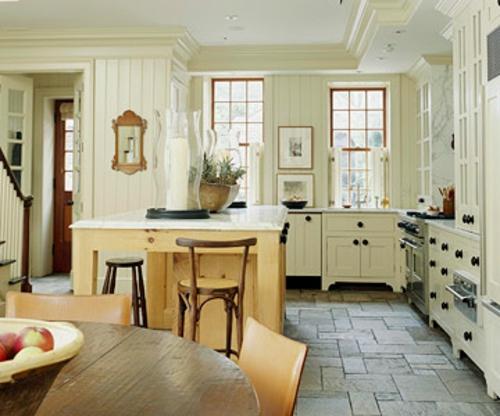 renoveierung küche design offen idee fenster tisch holz