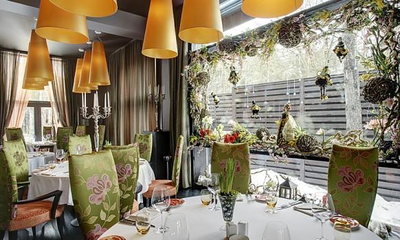 interieur designs im restaurant romantisch stimmung