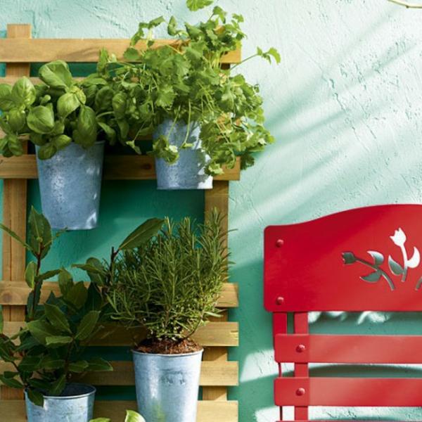 retro stil deko grüne pflanzen