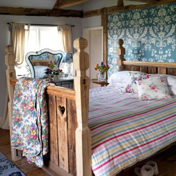 robust schlafzimmer bunt blumen