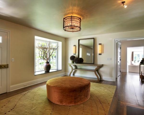 erdige dekorative ideen teppiche interieur design samt hocker braun