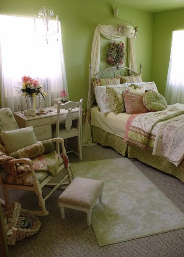 romantisch deko schlafzimmer pastellfarben