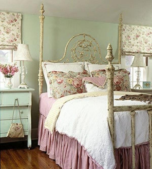 Schlafzimmer romantisch weiss  Frühlingsdeko im Schlafzimmer - 44 wundervolle Ideen