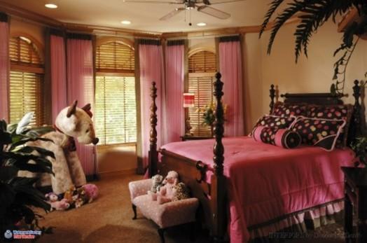 Kinderzimmer Design Tapeten : Teen Girl Room Pink and Brown