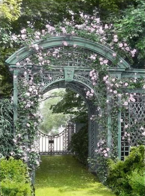 Zauberhafte Rosenbogen Im Garten 21 Tolle Vorschlage