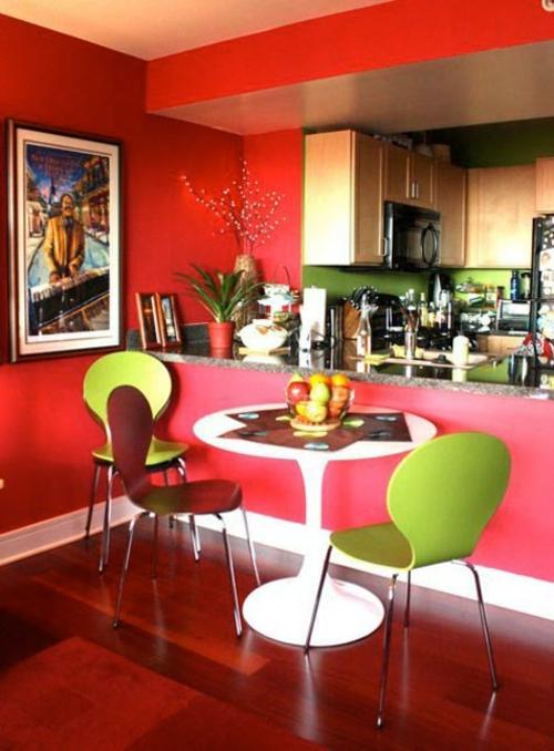 27 grelle und farbenfrohe esszimmer design ideen. Black Bedroom Furniture Sets. Home Design Ideas