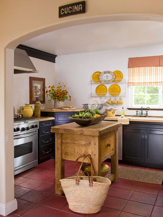 rustikal landhausstil charme klein küche
