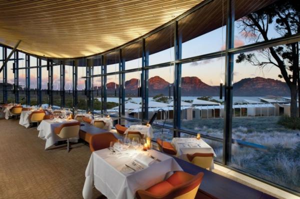 saffire freycinet urlaubsort tasmanien restaurant