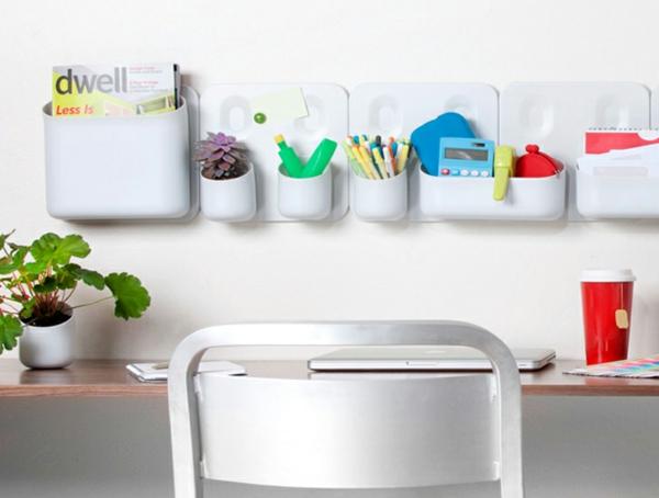 schickes ordnungssystem weiß behälter bleistift weiß farbe