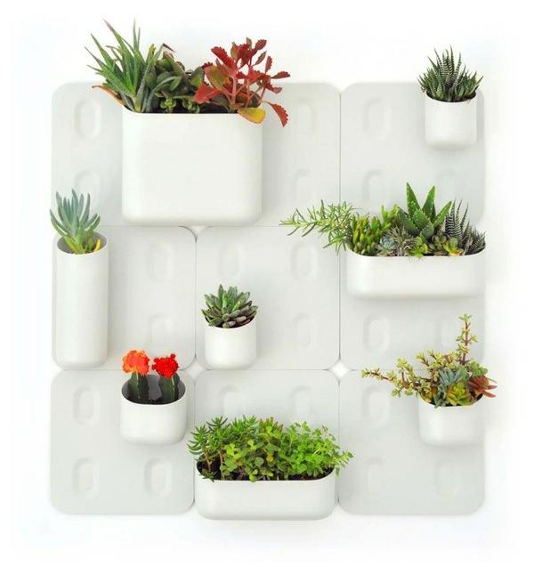 schickes ordnungssystem weiß behälter pflanzer