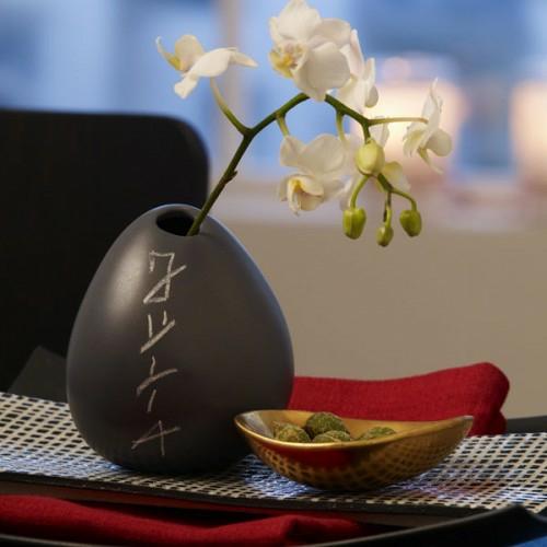 schlicht tischverzierung vase