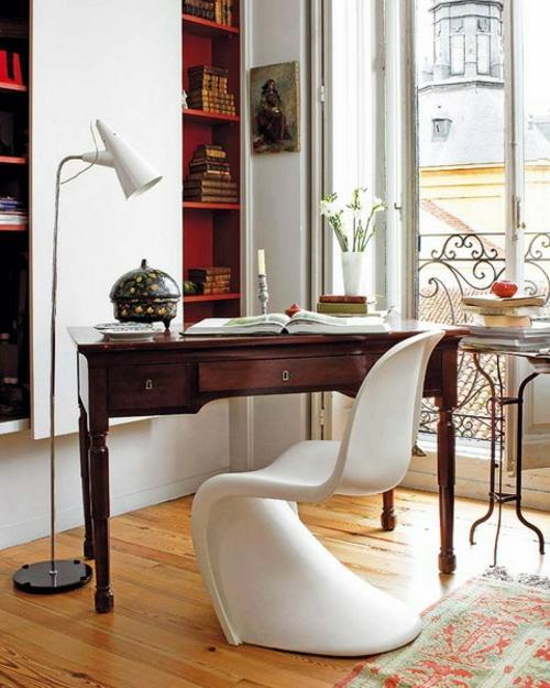 home office design im traditionellen und rustikalen stil. Black Bedroom Furniture Sets. Home Design Ideas