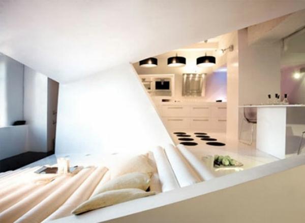 schwarz weiß interieur design eckig originell