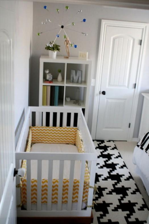 16 tolle Ideen für schwarz-weißen kleinen Teppich im Kinderzimmer