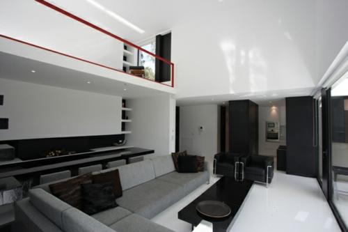 schickes interior rot schienen zweite etage sofa