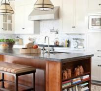 Küchenblock mit sitzgelegenheit  Wunderschöne Ideen für Kücheninsel mit Sitzplätzen