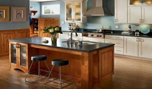 sitzplätze kücheninsel idee holz stehstühle rund