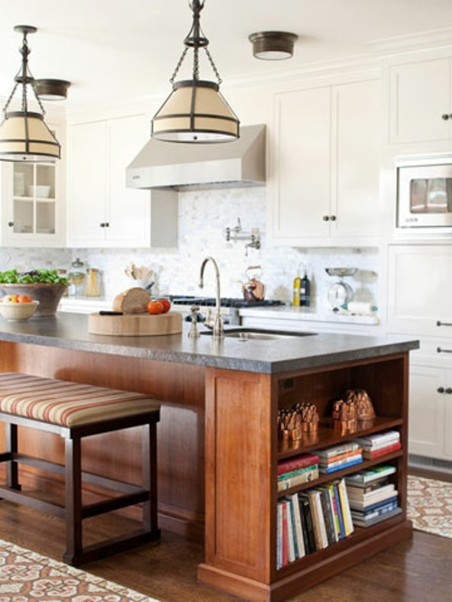 Kücheninsel mit Sitzplätzen idee holz erweitern ecke