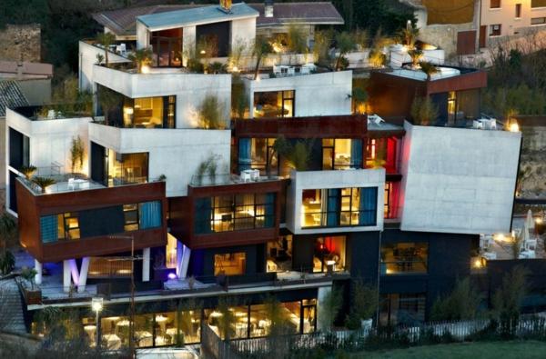 Spanisches Hotel Viura  designhouses einzigartiges exterieur design